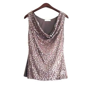 Arden B. Sequin top